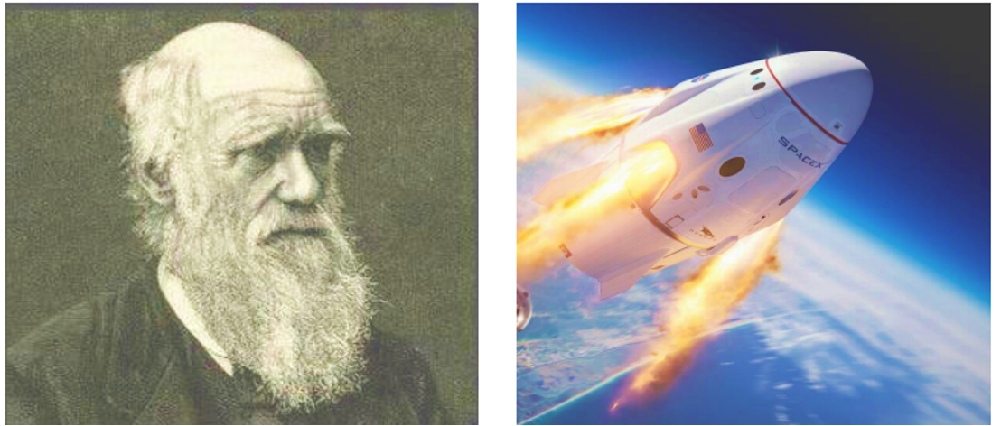 Charles Darwin (left) and the future of space travel (right) may not seem like they have much in common, but in fact, these two seemingly unrelated subjects offer an important case study in how investors should think about investing